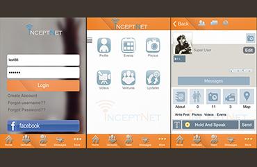 UI/UX & Code Inceptnet App